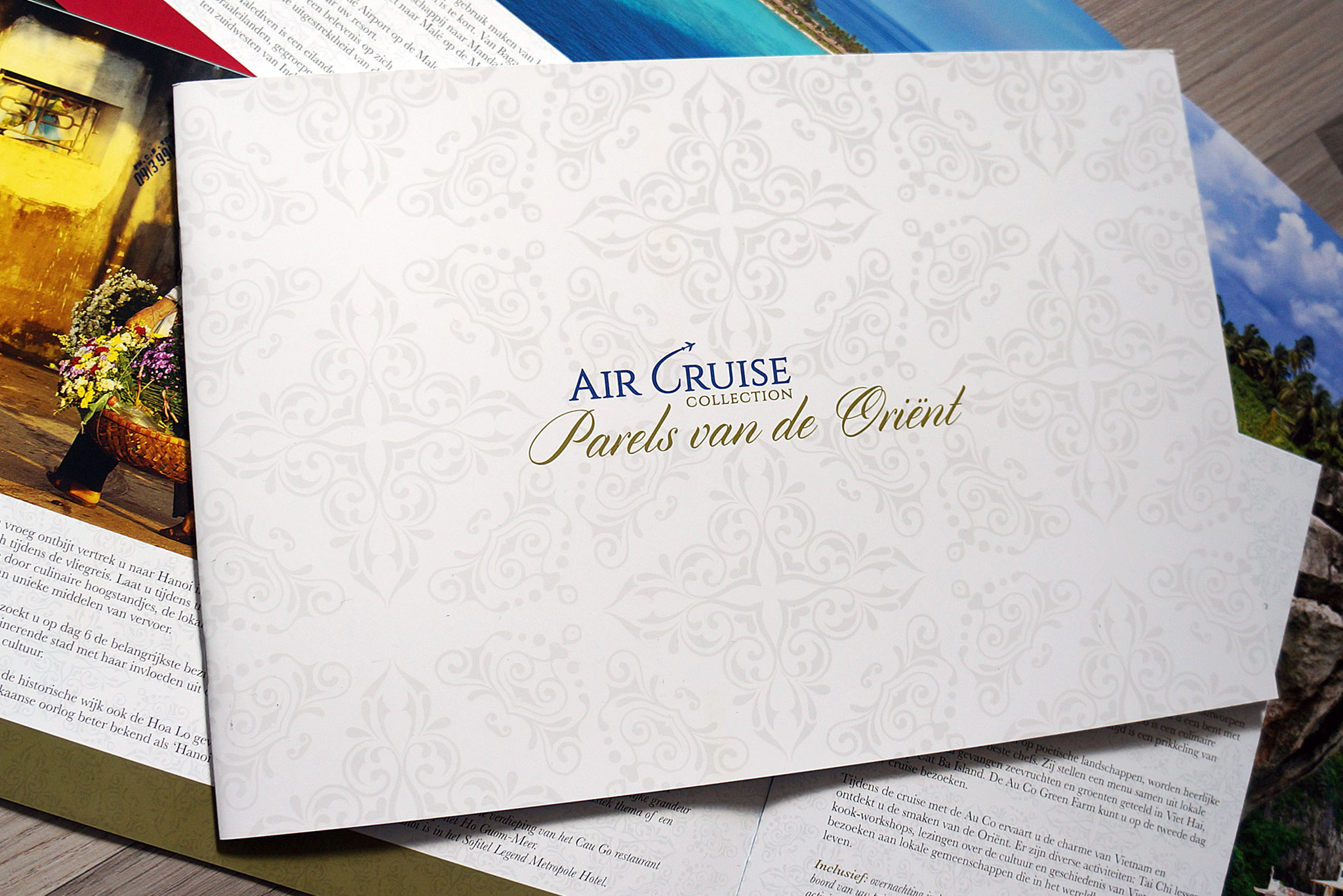 Ontwerp en ontwikkeling brochure Air Cruise Collection